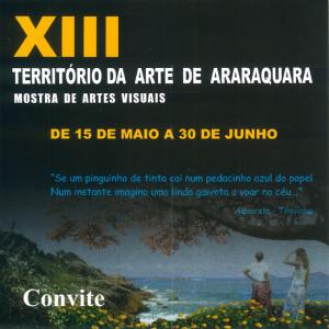 Exposição XIII Território da Arte de Araraquara 2015